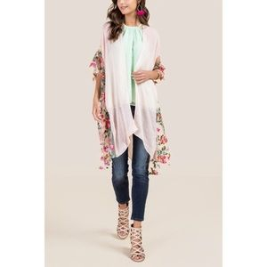 Tenille Floral Ruana (one size)